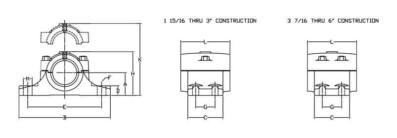 rigid split journal bearing gibbed joint diagram